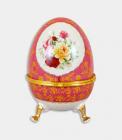 "Шкатулка в формі яйця ""Великдень Pink"", висота 20см"