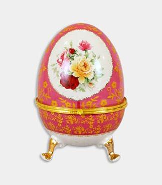 """Шкатулка в форме яйца """"Пасха Pink"""", высота 20см"""