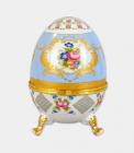 """Шкатулка в формі яйця """"Великдень Pale Blue"""", висота 20см"""