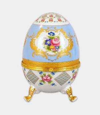 """Шкатулка в форме яйца """"Пасха Pale Blue"""", высота 20см"""