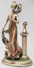 """Статуетка декоративна """"Дівчина з пером"""" 44.5см з бронзовим напиленням"""