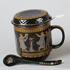 """Кружка-заварник """"Египет"""" 350мл с металлическим ситом и керамической ложкой"""