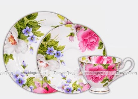 Набор для чая Bona Peony 3 предмета, подарочный