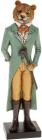 """Статуетка декоративна """"Тигр з тростиною"""" 31.5см, полистоун, бірюза з жовтим"""