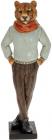 """Статуетка декоративна """"Тигр у шарфі"""" 37.5см, полистоун, сірий з блакитним"""