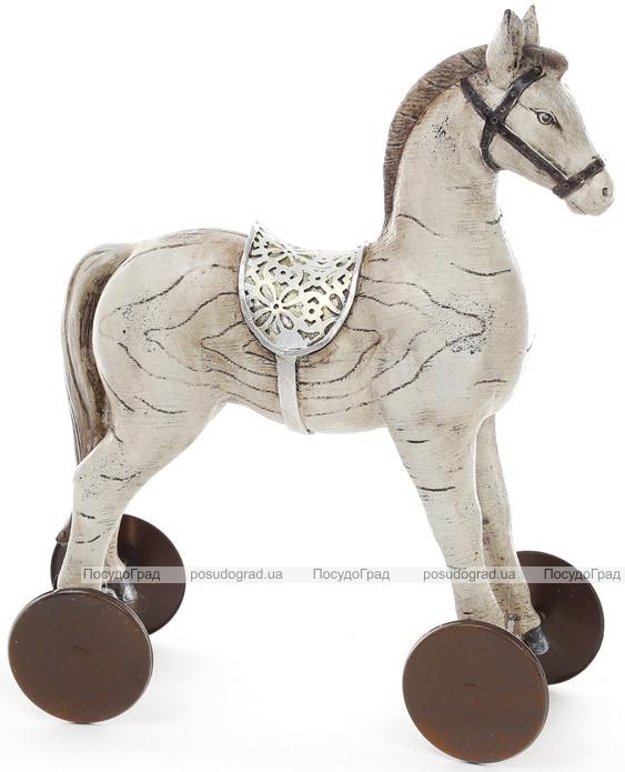 """Статуэтка декоративная """"Детская лошадка"""" 28см, темная"""