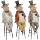 """Статуетка декоративна """"Свин на стільці"""" 29см"""