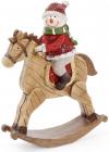 """Статуетка """"Сніговик на коні"""" 20.5х6.5х26см"""