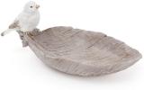 "Блюдо декоративное ""Птица на листе"" 25см, полистоун"