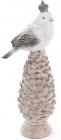 """Статуетка """"Птах на засніженій шишці"""", 30см"""