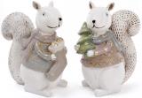 """Набір 2 фігурки """"Білочка в светрі"""" 13х8х14.5см, білі"""