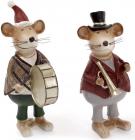 """Набір 2 статуетки """"Мишка музикант"""" 10.5х6.5х16.5см"""