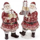 """Новорічна статуетка """"Санта з подарунками"""" 13х11.5х24см"""