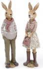 """Набір 2 статуетки """"Заєць і Зайка"""" 27см"""