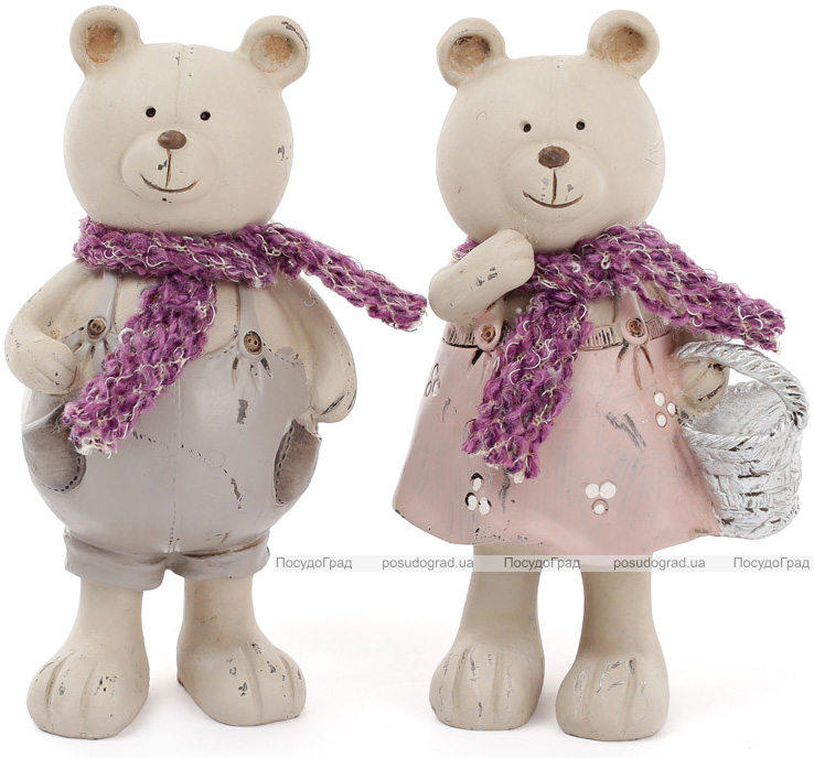 """Набор 2 статуэтки """"Мишки в шарфиках"""" 16.5см"""