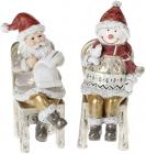 """Набір 2 статуетки """"Санта зі Сніговиком"""" 16.5см"""