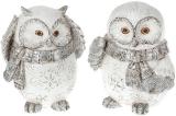 """Набір 2 статуетки """"Снігові Совушки"""" 10.5см"""