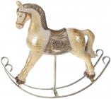"""Статуетка декоративна """"Конячка-качалка"""" золота, 26см"""