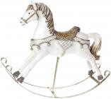 """Статуетка декоративна """"Конячка-качалка"""" біла, 34.5см"""