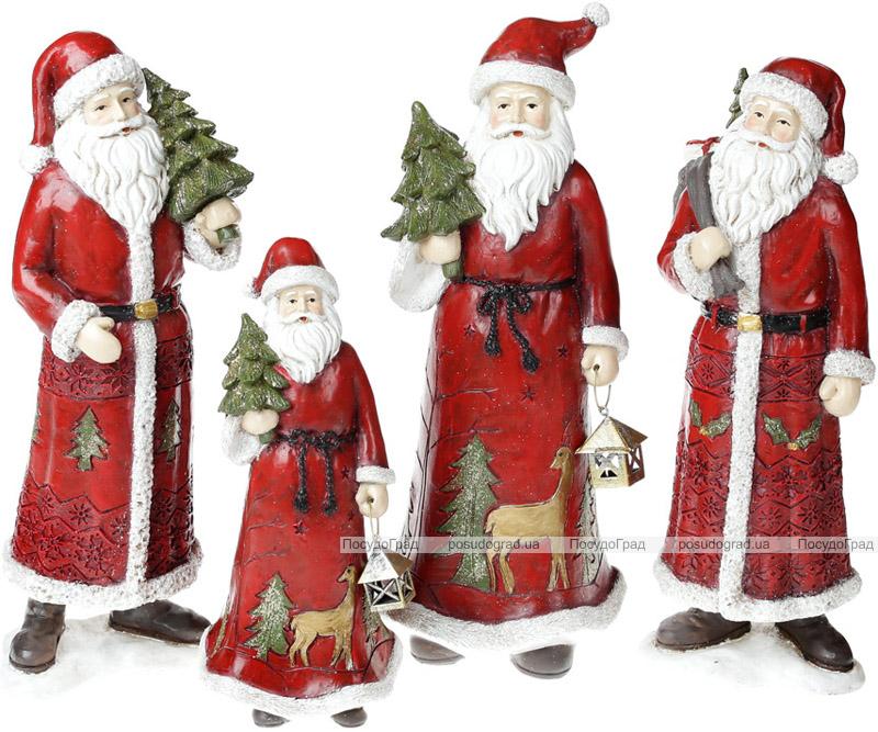 """Статуэтка декоративная """"Санта с елочкой"""" 31.5см, в красном"""