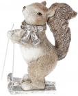 """Статуетка """"Білочка на лижах"""" 17.5см"""