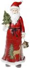 """Статуетка декоративна """"Санта з ялинкою"""" 31.5см, в червоному"""