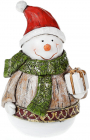 """Декоративная статуэтка """"Снеговик с подарком"""" 15.5см"""