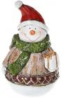 """Декоративная статуэтка """"Снеговик с подарком"""" 14.5см"""