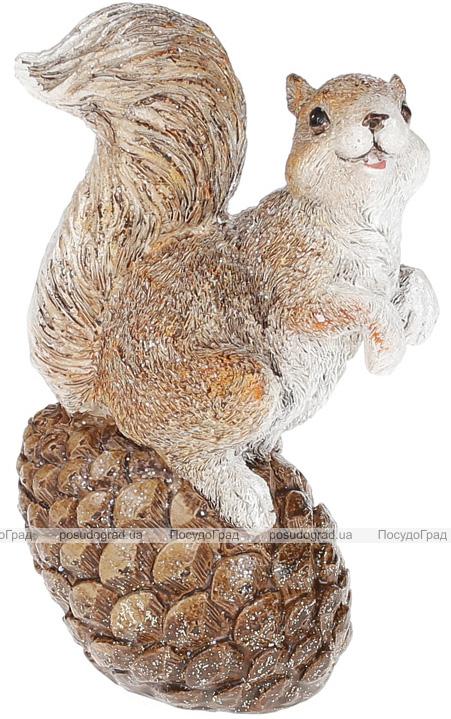 """Набор 2 статуэтки """"Белочка на шишке"""" 14.5см"""
