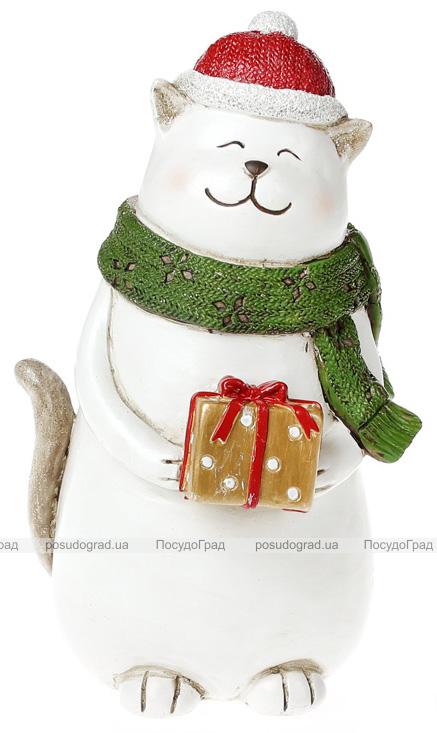 """Статуэтка """"Котик с подарком"""" 22см"""