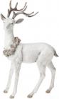 """Статуетка """"Білий олень з вінком із шишок"""" 34.5см"""