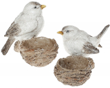 """Набір 2 декоративних підсвічники """"Пташки на гніздечках"""" 10.5см"""