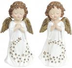 """Набор 2 декоративные статуэтки """"Звездный Ангел"""" Золото 8.5х6х16.5см, полистоун"""
