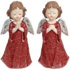 "2 декоративных статуэтки ""Ангел Бордо"" 8.5х6х16.5см, полистоун"
