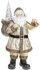 """Фігура декоративна """"Чарівний Санта"""" Gold з LED підсвічуванням, 28.5х19х52см"""