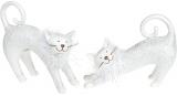 """Набір 2 статуетки """"Білі кішки"""" Антік 24х8х18.5см, полістоун"""