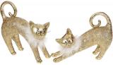 """Набір 2 статуетки """"Золоті кішки"""" Антік 24х8х18.5см, полістоун"""