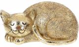 """Декоративна статуетка """"Сплячий Котик"""" Антік Gold 19х10.5х10.5см, полістоун"""