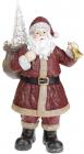 """Фігура декоративна """"Чарівний Санта"""" Бордо з LED підсвічуванням, 28.5х19х52см"""
