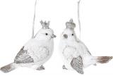 "Набор 2 подвески ""Королевские птички"" White Silver 12х6х10см"