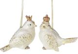 """Набір 2 підвіски """"Королівські пташки"""" Gold 12х6х10см"""