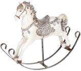 """Статуетка-качалка """"Конячка із замку"""" 25х17х23см, полістоун"""