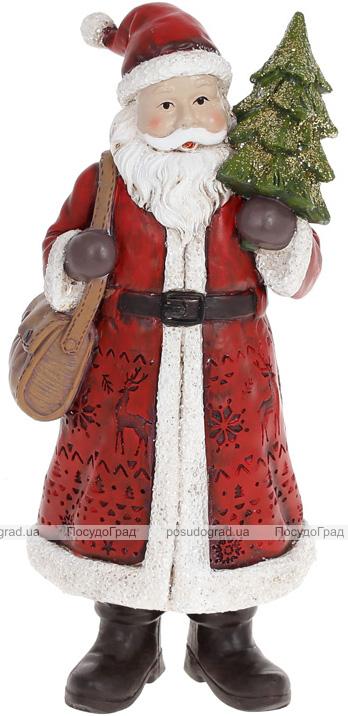 """Фігура декоративна """"Санта Клаус з Ялинкою"""" 20см, червоний"""