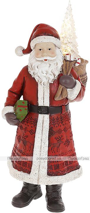"""Фигура декоративная """"Санта Клаус с Елочкой"""" 40см, красный"""