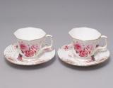 """Чайний набір """"Букет троянд"""" 2 чашки 220мл з блюдцями в подарунковій коробці"""