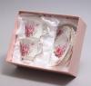 """Чайный набор """"Букет роз"""" 2 чашки 220мл с блюдцами в подарочной коробке"""