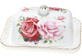 """Маслянка """"Букет троянд"""" -140 17x12x6.5см, фарфорова"""