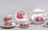 """Чайний сервіз """"Букет троянд"""" 220мл 15 предметів"""
