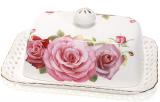 """Масленка """"Букет роз""""-172 17x12x6.5см, фарфоровая"""