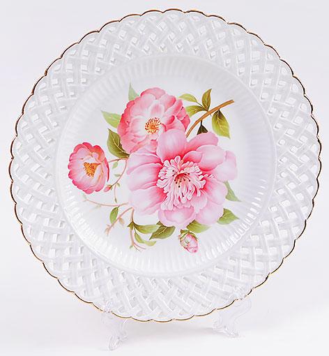 """Блюдо """"Китайская роза"""" круглое Ø26.2см"""